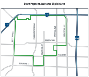 map of eligible areas for downpayment assistance